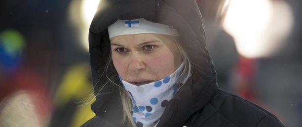 Mari Laukkasella oli tuskainen kisa Östersundissa.