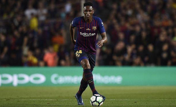 Yerry Mina siirtyi Barcelonaan tammikuussa ja jatkaa matkaansa jo nyt.
