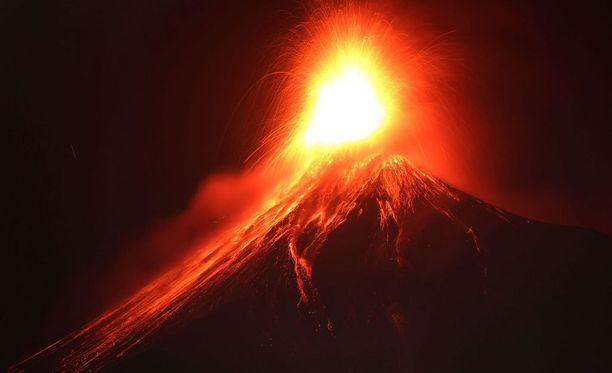 Tammikuussa Volcan de Fuego purkautui näin näyttävästi