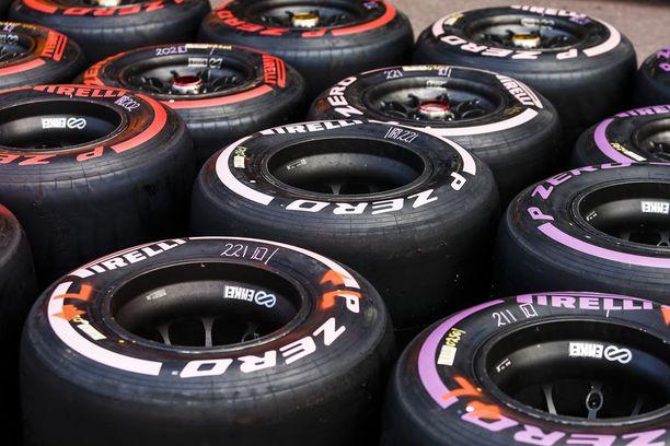 Pirelli tarjoaa Monacon GP:ssä käyttöön superpehmeän (punainen), ultrapehmeän (puppura) ja hyperpehmeän (vaaleanpunainen) rengasseoksen.