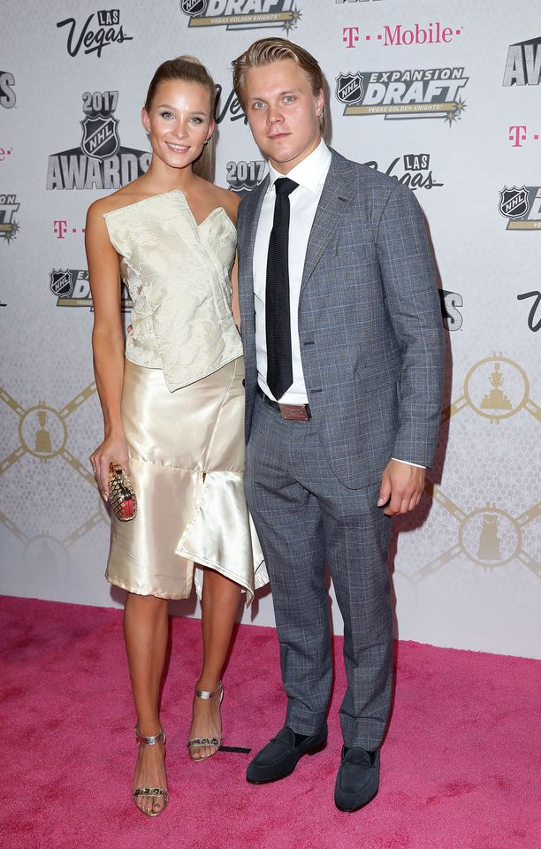 Emmi Kainulainen ja Mikael Granlund NHL Awards -gaalassa viime vuonna.