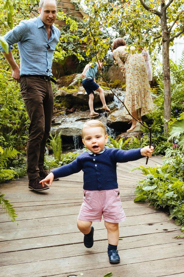 Nuoren prinssi Louisin nähtiin kävelevän ensimmäistä kertaa vierailun aikana.