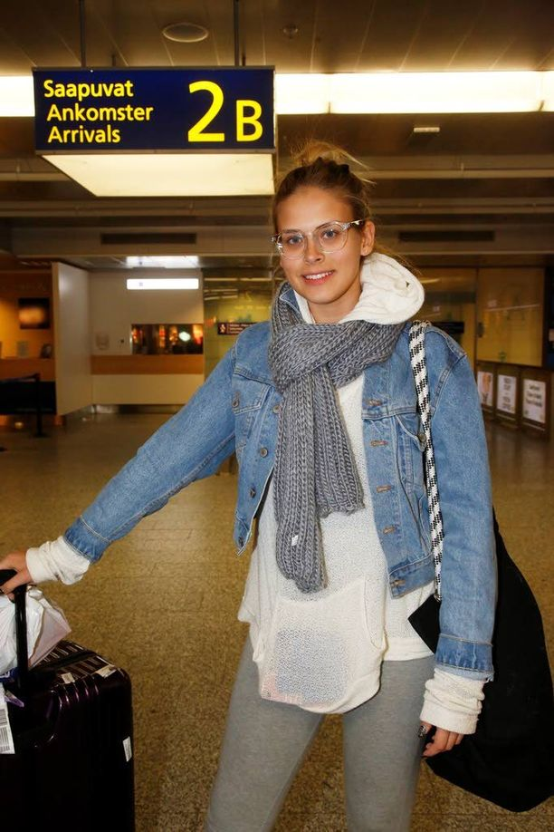 Sara Forsberg saapui Suomeen myöhään keskiviikkoiltana.