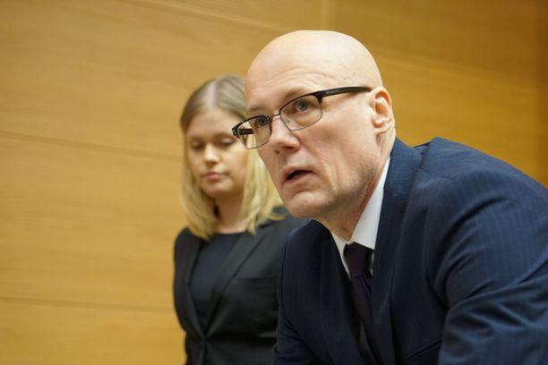 Valelääkäri Esa Laiho kuvattuna Helsingin käräjäoikeuden istunnossa viime vuoden tammikuussa.