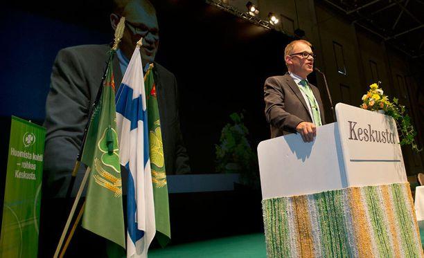 Keskustan puoluekokous alkoi perjantaina Turussa. Kuvassa puheenjohtaja Juha Sipilä.