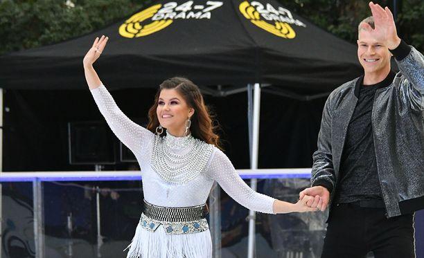 Saara Aalto ja  Hamish Gaman saivat tuomaristolta kehuja Dancing on Ice -tos-tv-ohjelmassa.