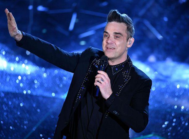 Robbie Williams on ollut mielissään Blobbie Williamsin tapaamisesta.