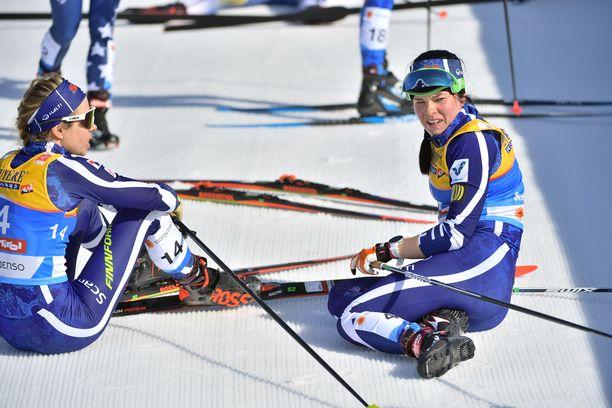 Laura Mononen (vas.) oli kahdestoista ja Krista Pärmäkoski kahdeksas.