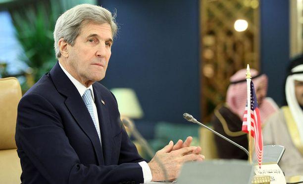 Yhdysvaltain ulkoministeri John Kerry Saudi-Arabiassa 18. joulukuutta.