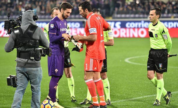 Gigi Buffon ja Davide Astori kohtasivat Serie A:ssa viimeksi helmikuun alussa.