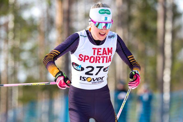Kaisa Mäkäräinen oli viides Äänekosken SM-kisojen vapaan kympillä viime viikon lauantaina.