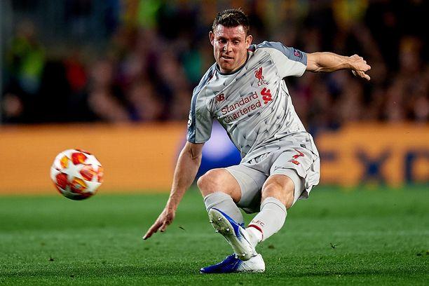 James Milner pelasi 84 minuuttia keskiviikkona Barcelonaa vastaan.
