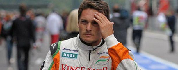 Giancarlo Fisichella ajoi eläimen yli harjoituksissa.
