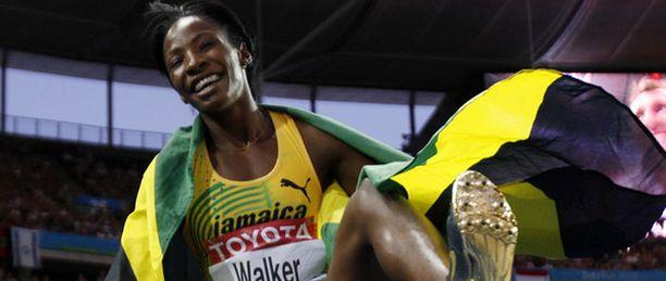 Melaine Walker jaksoi Jamaikan riemujuhlaa MM-juoksuissa.