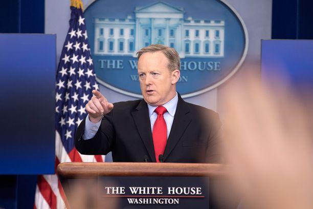 Sean Spicer on Valkoisen talon virallinen äänitorvi ulkomaailmaan.