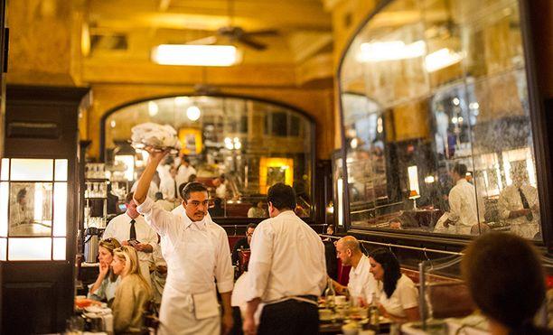 Ravintola Balthazar Manhattanilla on ranskalaistyyppinen bistro.