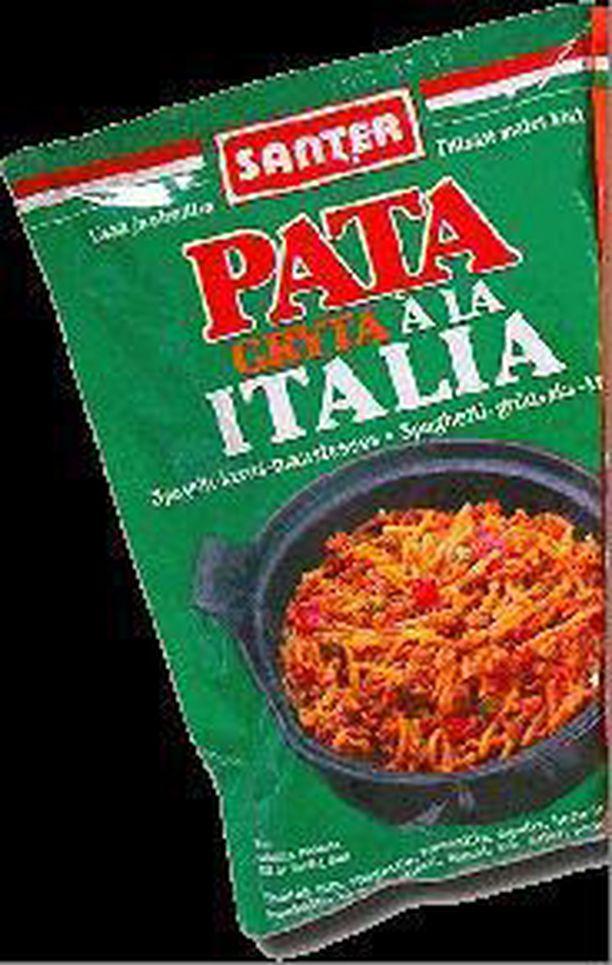 Erä Pata aŽla Italia -pata-ainespusseja vedetään myynnistä.