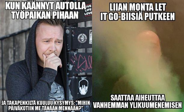 Ville Viholainen tuli tunnetuksi hauskoista Instagram -postauksistaan.