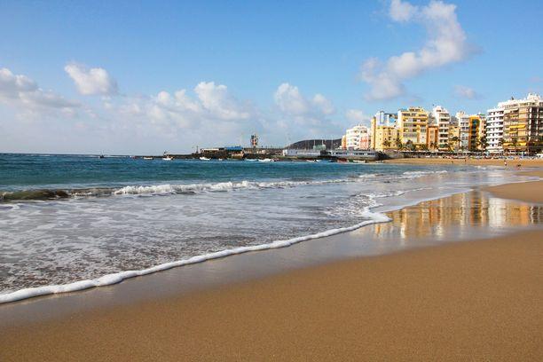 Las Canterasin rannalla voi talvella olla näinkin hiljaista.