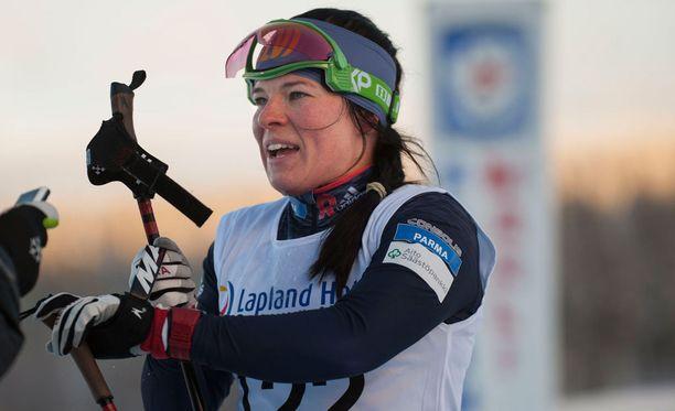 Krista Pärmäkoski voitti 30 kilometrin Suomen mestaruuden näytöstyyliin.