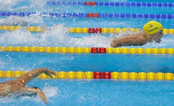 Sarah Sjöström vei selkeän voiton naisten 100-metrin perhosuinnissa.