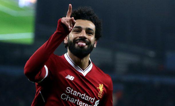 Mo Salah on tuulettanut maalia tällä kaudella jo 31 kertaa.