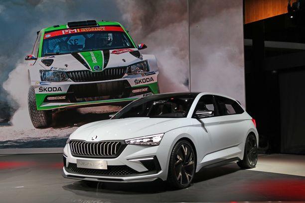 Škoda Vision RS esittelee tulevien RS-mallien mausteita ja antaa esimakua uudesta  Rapidista.