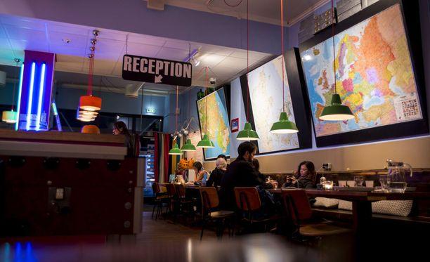 Hotellin reception on harvinainen näky Herningissä. Hotelleja ei tulevalla MM-kisapaikkakunnalla juuri ole.