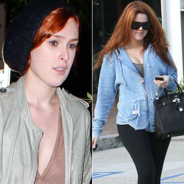 Rumer Willis ja Khloe Kardashian vaihtoivat hiusväriään hiljattain.