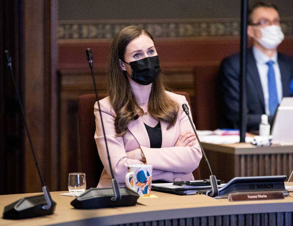 Pääministeri Marin hallituksen neuvotteluissa Säätytalolla vajaa viikko sitten.