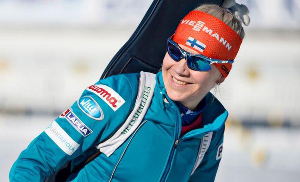 Kaisa Mäkäräinen laittoi Östersundin maailmancupin Linnan juhlien edelle.