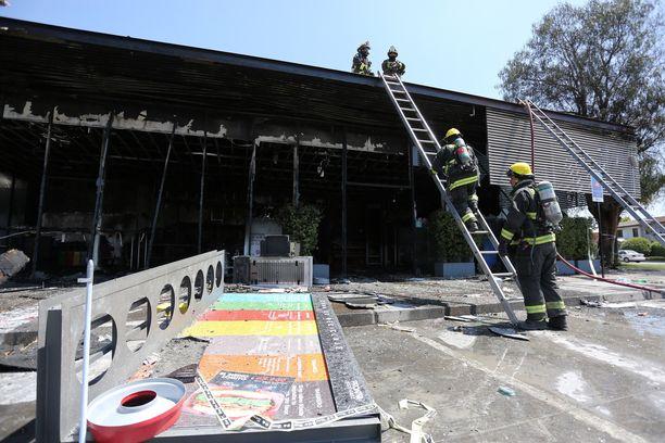 Tämän supermarketin palossa kuoli kaksi ihmistä.
