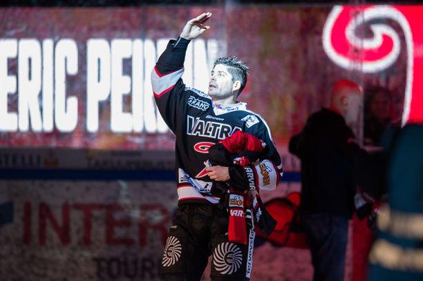 Eric Perrin saattaa pelata tänään viimeisen ottelunsa Liigassa.