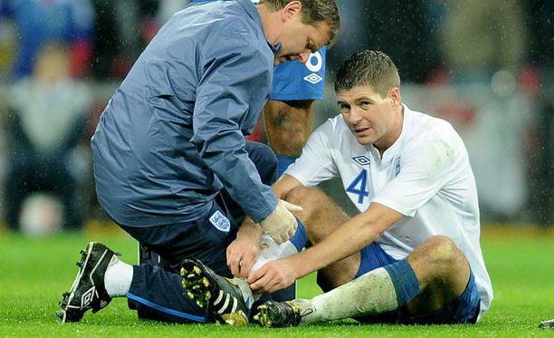 Steven Gerrard loukkaantui keskiviikkona pelatussa maaottelussa.