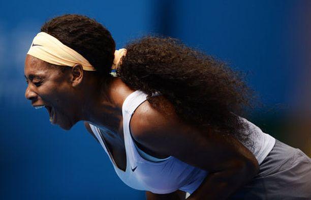 Serena Williams pelaa pelinsä suurella tunteella.