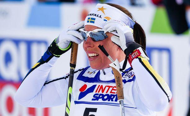 Charlotte Kalla sijoittui lauantaina lopulta seitsemänneksi.