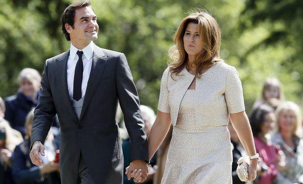 Tennistähti Roger Federer, 35, ja hänen vaimonsa Mirka.