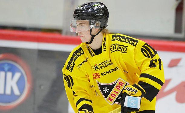 Joni Ikonen tarjoili kolme maalisyöttöä Lahdessa.