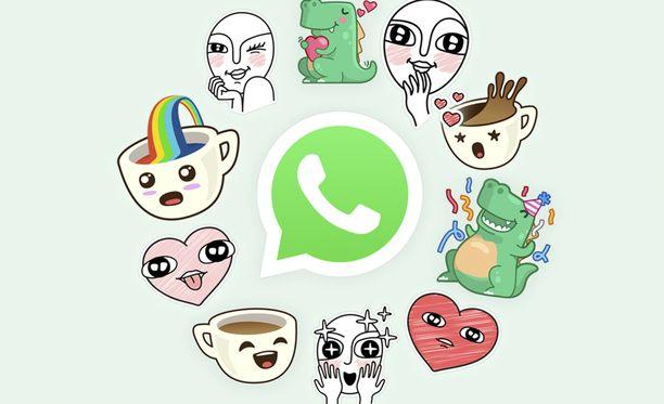 Whatsappissa voi pian lähetellä myös tarroja.