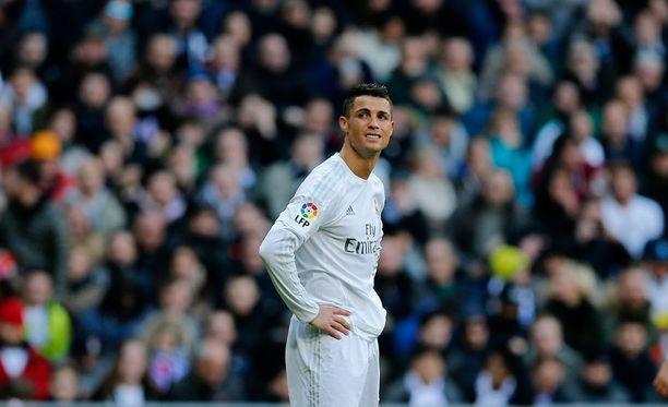 Cristiano Ronaldo tuskaili eilisessä ottelussa Atletico Madridia vastaan.