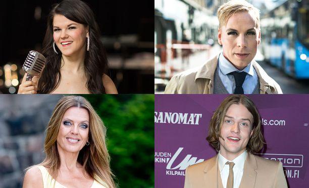 Mukana ovat muun muassa Saara Aalto, Eini, Cristal Snow ja Mikael Saari.