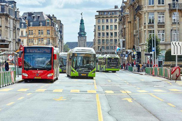 Luxemburgissa busseilla matkustetaan lauantaista eteenpäin ilmaiseksi.