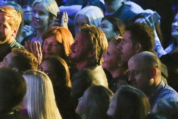 Sean Penn nähtiin entisen vaimonsa Madonnan keikalla myös syyskuussa New Yorkissa.