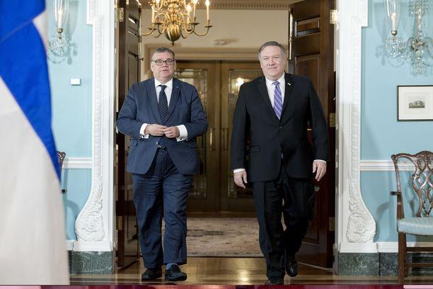 Ulkoministeri Timo Soini tapasi tänään Yhdysvaltain ulkoministeri Mike Pompeon.