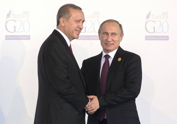 Turkin ja Venäjän presidentit tapaavat toisensa pian. Kuva viime syksyltä.
