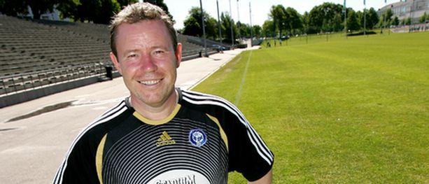 Keith Armstrongin HJK tasoitti pelin viime hetkillä. Kuvassa Armstrong Töölön pallokentällä kesäkuun puolivälissä.
