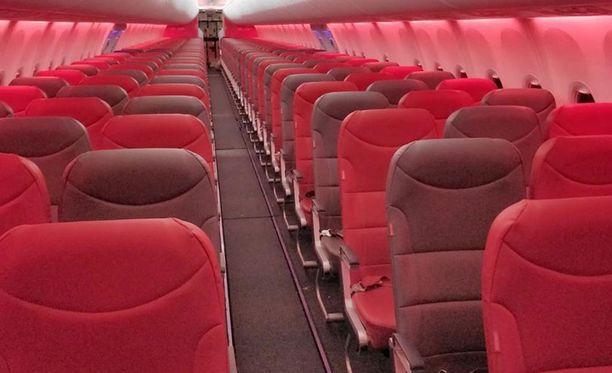 Lennolle olisi mahtunut 189 matkustajaa.