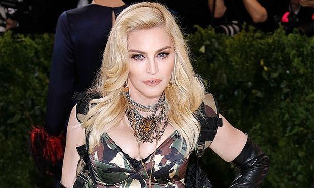 Madonna on yleensä julkisuudessa huolellisesti meikittuna. Kuva on otettu vuosi sitten helmikuussa.