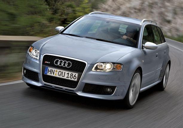 Kuvan saksalaisauto on koriltaan samanlainen kuin oikeudessa kiistelty, käytettynä Suomeen tuotu Audi.