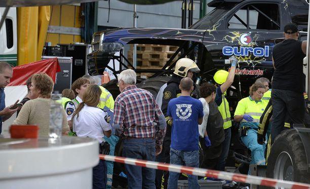 Hollannin Haaksbergenissa sattui vuoden 2014 syyskuussa traaginen monsteriauto-onnettomuus.